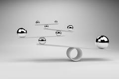 3D翻译:平衡的球的例证在构想,平衡概念上的 库存例证