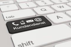 3d - 键盘- Kundendienst -黑色 库存照片