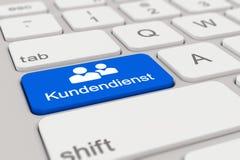 3d - 键盘- Kundendienst -蓝色 图库摄影