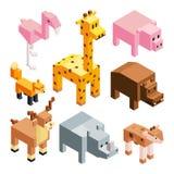 风格化3d动物的等量例证 向量例证