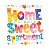 Home sweet apartment royalty free illustration
