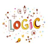 Logic - hand lettering design royalty free illustration