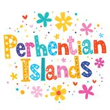 Perhentian Islands. Vector lettering decorative type royalty free illustration