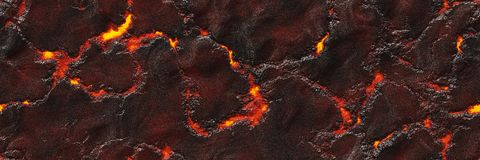 Файл безшовной магмы большой Разрушьте жидкий жидкий металл стоковое фото