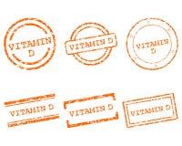 Γραμματόσημα βιταμινών d Στοκ Φωτογραφίες
