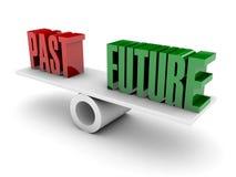 过去和未来反对。 免版税库存图片