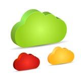 空白的3d云彩形状 免版税库存照片