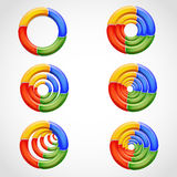 3D多彩多姿的圆环形状 免版税库存图片