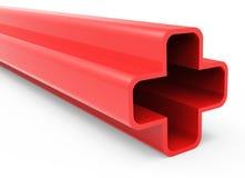 红色3D加号 库存照片