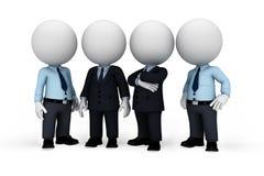 белые человеки 3d как военнослужащий с бизнесменом Стоковое Изображение