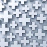 抽象3d加上标志 免版税库存图片