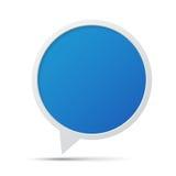 3D泡影谈话框架。 免版税库存照片