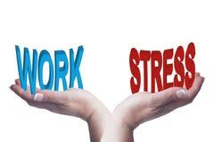 Женские руки балансируя работу и стресс 3D формулируют схематическое изображение Стоковая Фотография