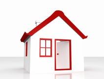 3D房子的例证 免版税库存照片