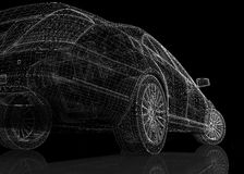 汽车3D模型 免版税图库摄影