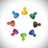 获得五颜六色的3d的孩子或的孩子一起使用和乐趣 库存图片