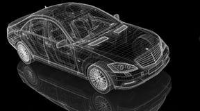 Модель автомобиля 3D Стоковое Изображение