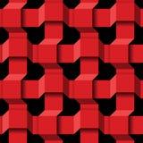 抽象3D无缝的样式 向量例证