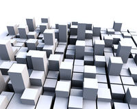 3D块 免版税库存图片