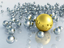 3D球 免版税图库摄影