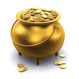 горшок с золотом 3d Стоковые Фотографии RF