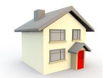 3d回报房子作为一个简单的标志或象 图库摄影
