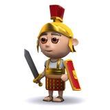 3d罗马战士准备好 库存照片