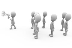 3d人报告人和人群概念 免版税图库摄影