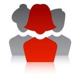 изображение руководителя 3d представило команду Стоковые Изображения RF