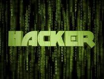 3D黑客矩阵 图库摄影