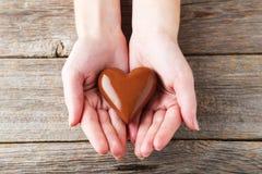 иллюстрация сердца конструкции шоколада 3d графическая представила Стоковые Изображения RF
