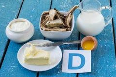 Τρόφιμα με τη βιταμίνη d Στοκ Εικόνες