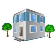 Комплект детальных равновеликих зданий города город вектора 3d равновеликий Стоковое Изображение RF