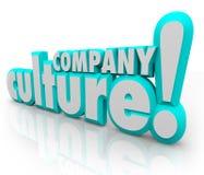 公司文化3d措辞队的组织 免版税库存照片