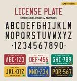 шрифт номерного знака 3d Стоковое Изображение RF