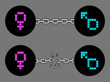 символы иллюстрации рода принципиальной схемы 3d Стоковое Изображение RF