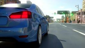 Взгляд 3d автомобиля города абстрактный Стоковые Изображения RF