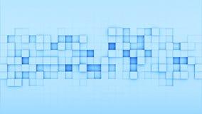 蓝色正方形3D回报 免版税库存照片