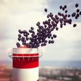 烟囱和3d气球 图库摄影