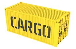 3D货箱的例证在白色隔绝的 皇族释放例证