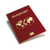 导航国际护照红色盖子等量3d模板 库存例证图片