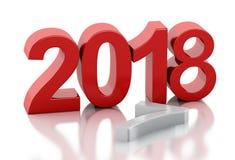 3d Año Nuevo 2018 Fotos de archivo libres de regalías