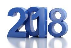 3d Año Nuevo 2018 Imagenes de archivo