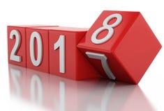 3d Año Nuevo 2018 Foto de archivo libre de regalías