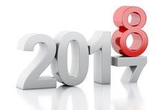 3d Año Nuevo 2018 Imágenes de archivo libres de regalías