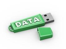 3d aandrijving van de het woord usb flits van de gegevenstekst Stock Fotografie