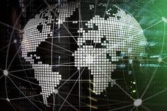 3D Aarde als telecommunicatie en Internet-technologieconcept stock foto