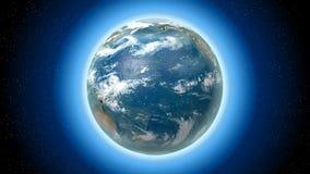 3D Aarde met alle continenten, ruimte stock illustratie