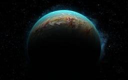 3D Aarde zoals planeet Stock Afbeelding