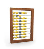 3d abacus. 3d illustration of wooden abacus on white background Stock Photo
